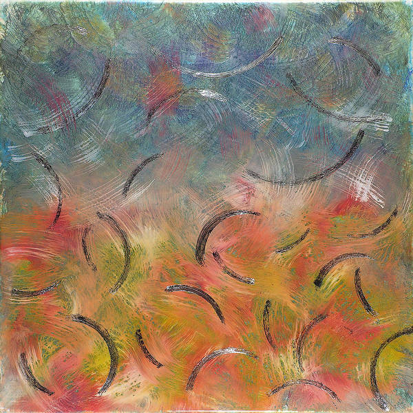 Abstract Poster featuring the painting Autumn Swirl by Paul Tokarski