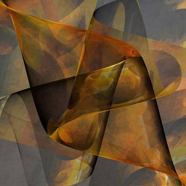 Abstract Poster featuring the digital art Autumn Wave by Ian Duncan Anderson