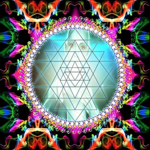 Awakening Poster featuring the digital art Awakening Of Sri Yantra by The Awakening Art