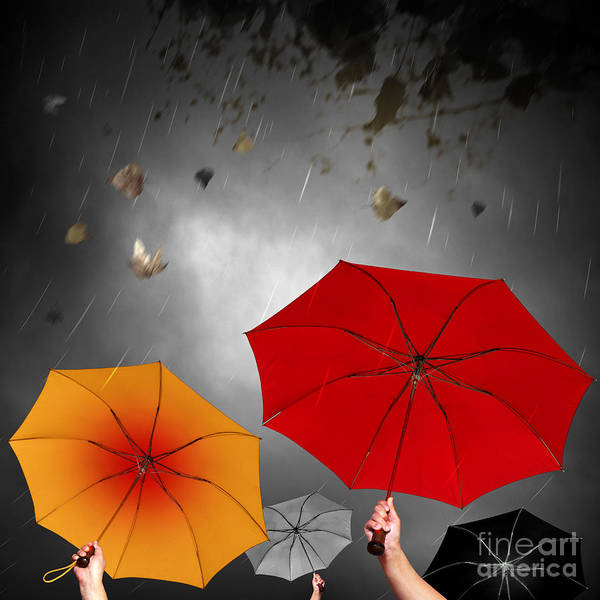 Abstract Poster featuring the photograph Bad Weather by Carlos Caetano