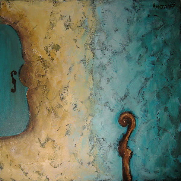 Violin Poster featuring the painting Balance by Aliza Souleyeva-Alexander