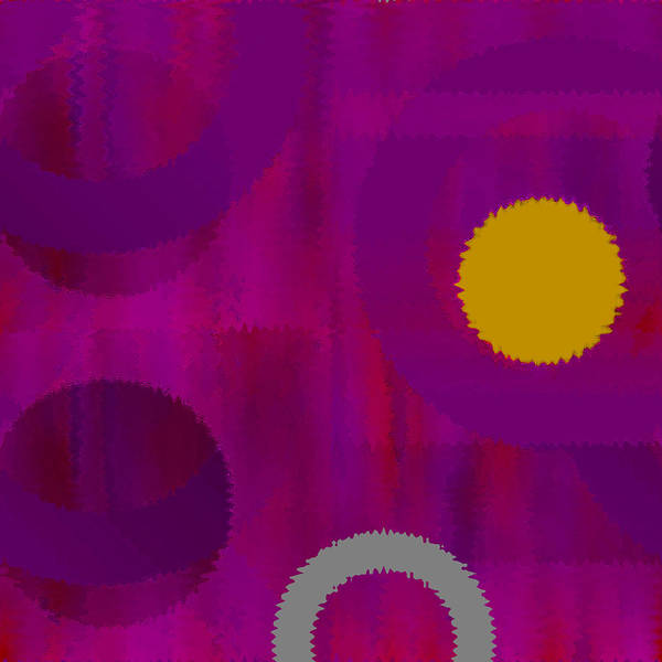 Abstract Poster featuring the digital art Be Happy II by Ruth Palmer