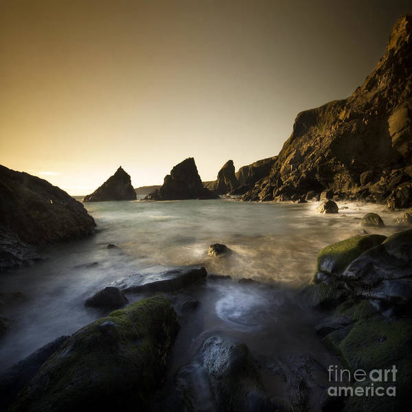 Cornwall Poster featuring the photograph Bedruthan Steps by Angel Ciesniarska