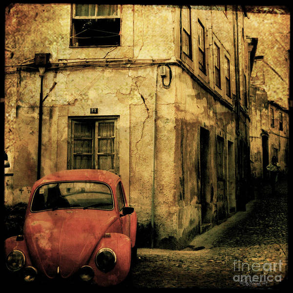Red Poster featuring the photograph Beetle Coimbra by Sonia Stewart