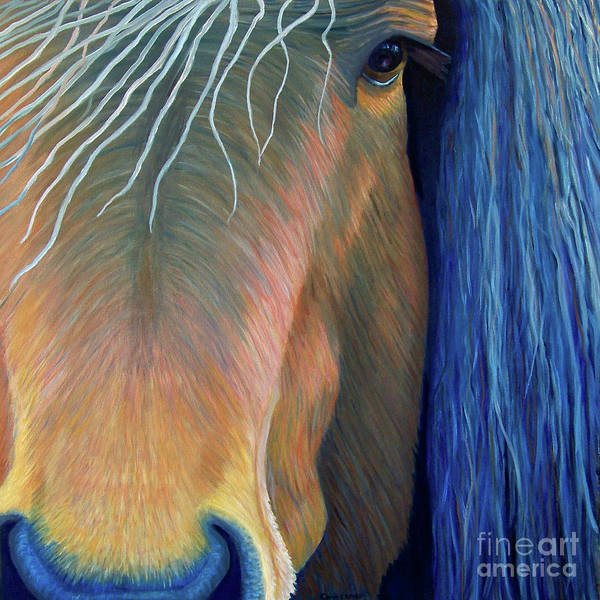 Horse Poster featuring the painting Before Sundown by Brian Commerford