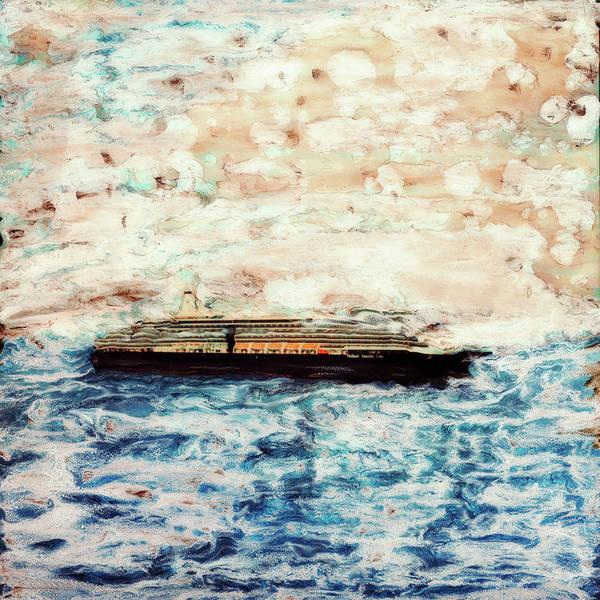 Paul Tokarski Poster featuring the photograph Big Black Ship by Paul Tokarski