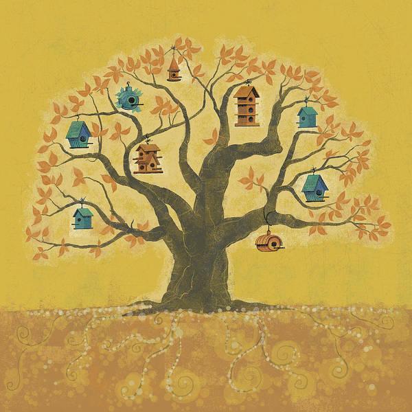 Poster featuring the digital art Bird Houses 01 by Dennis Wunsch