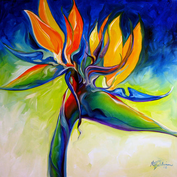 Bird Poster featuring the painting Bird Of Paradise 24 by Marcia Baldwin