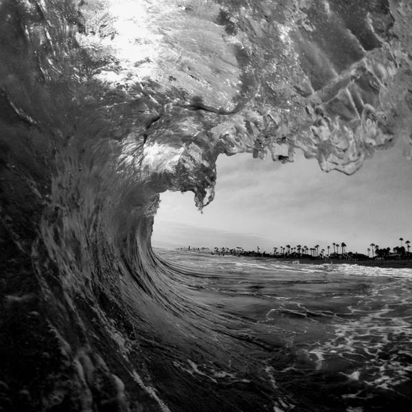Huntington Beach Poster featuring the photograph Black And White Room by Alex Nicolson