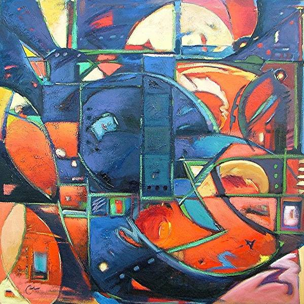 Abstract Poster featuring the painting Blackbird by Gary Coleman