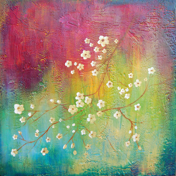 Bright Poster featuring the painting Blossom by Joya Paul
