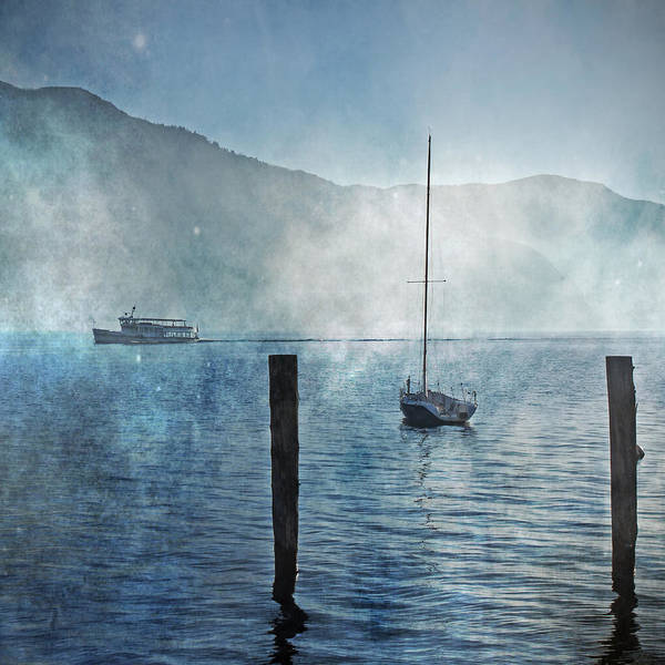 Fog Poster featuring the photograph Boats In The Fog by Joana Kruse