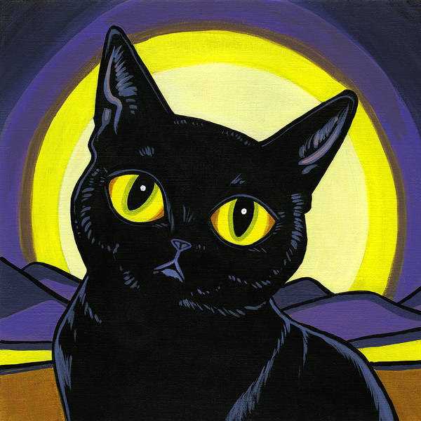 Cat Poster featuring the painting Bombay Moon by Leanne Wilkes