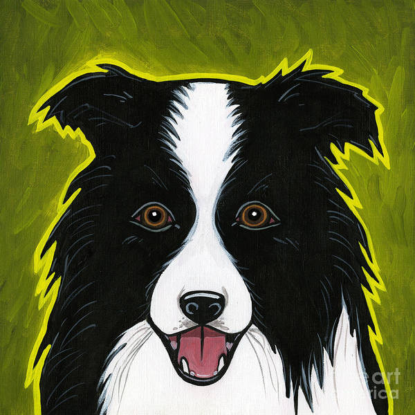 Border Collie Poster featuring the painting Border Collie by Leanne Wilkes