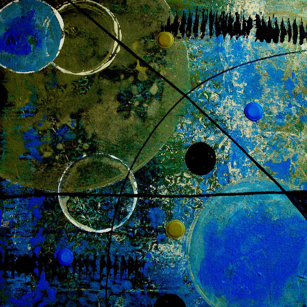Abstract Poster featuring the painting Bouncer by Ruth Palmer