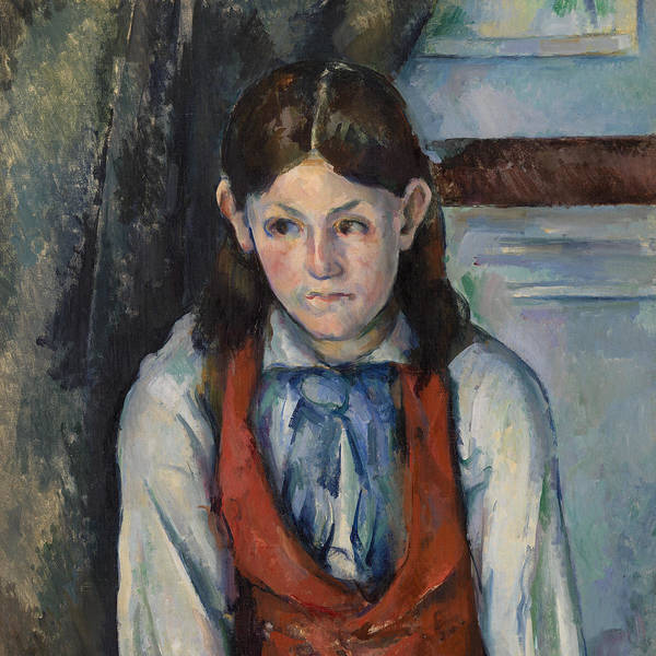 Red Vest Poster featuring the painting Boy In A Red Vest by Paul Cezanne