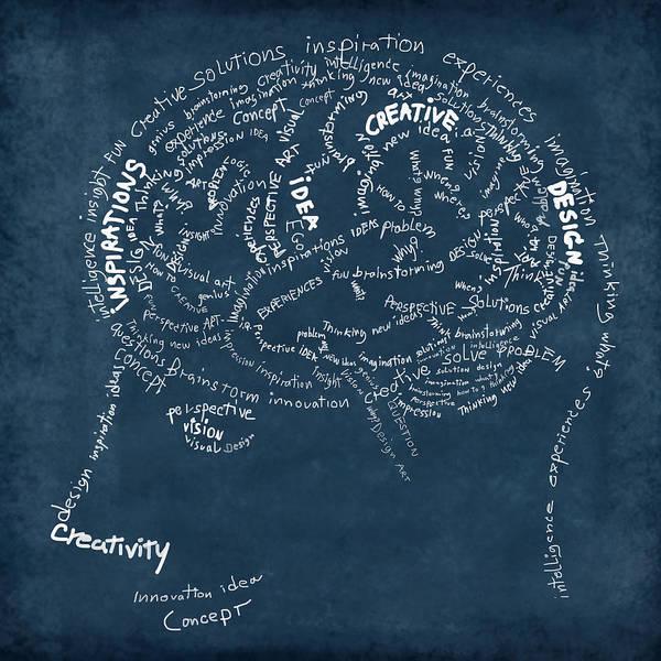 Anatomy Poster featuring the photograph Brain Drawing On Chalkboard by Setsiri Silapasuwanchai