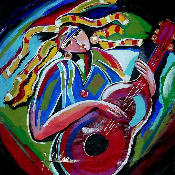 Music Poster featuring the painting Breezy by Gina Hulse