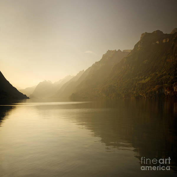 Alps Poster featuring the photograph Brienzersee by Angel Ciesniarska