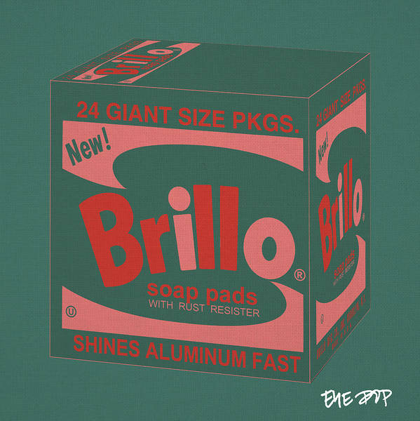 brillo Box Brillo Cans Colored Campbells Soup Warhol new York Nyc Gothamist Manhattan Moma museum Of Modern Art Art Museum pop Art soap Pads soup Cans Painting Ny campbell's Soup Cans andy Warhol eye Pop peter Potamus Limited Edition Poster featuring the digital art Brillo Box Colored 10 - Warhol Inspired by Peter Potamus