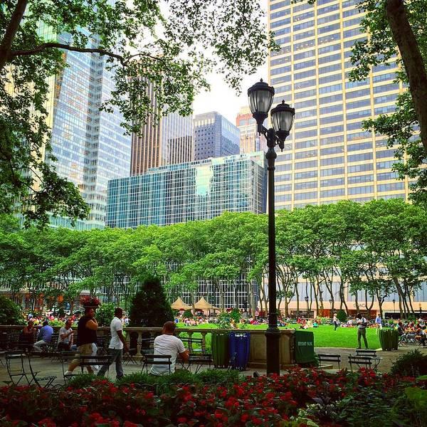 New York Poster featuring the photograph Bryant Park by Matt Matthews