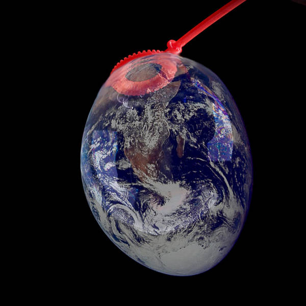 Earth Poster featuring the photograph Bubble Earth by Jim DeLillo