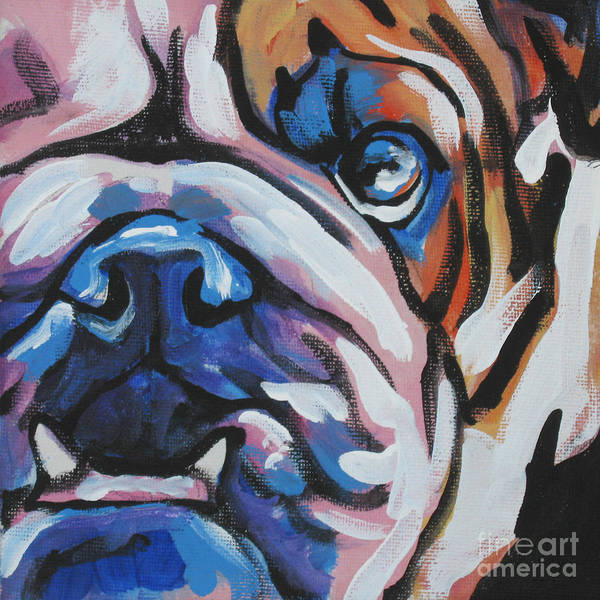 Bulldog Poster featuring the painting Bulldog Baby by Lea S