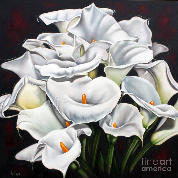 Lilies Poster featuring the sculpture Bunch Of Lilies by Ilse Kleyn