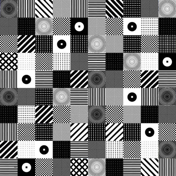 Poster featuring the digital art Bw Pop Pattern by Morgan Ralston