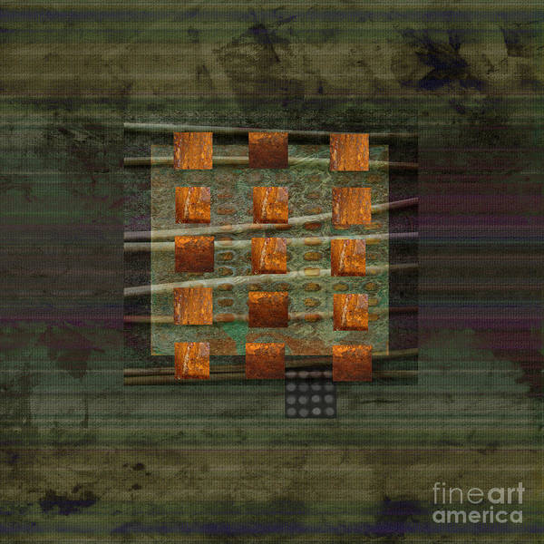 Abstract Art Poster featuring the mixed media Centering by Ann Powell