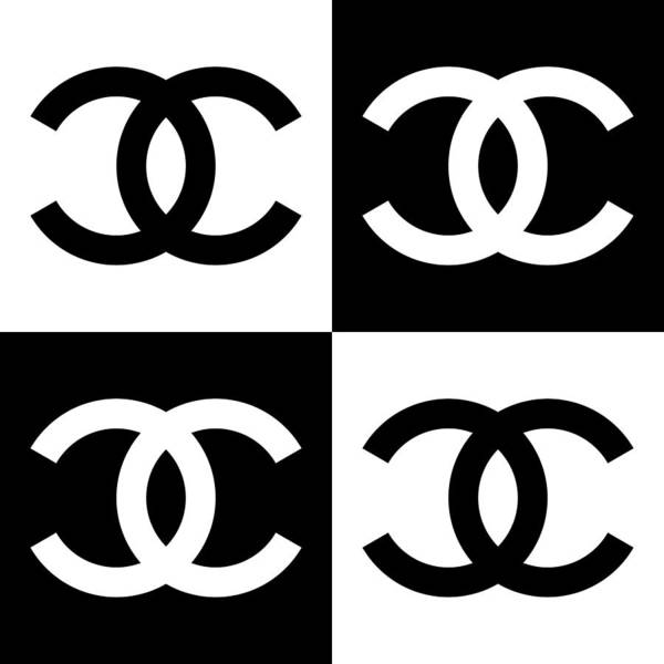 Chanel Poster featuring the painting Chanel Design-5 by Three Dots