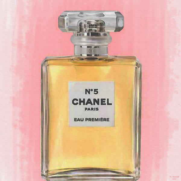 88aadda7ca3 Chanel No 5 Poster featuring the digital art Chanel No 5 Eau De Parfum by  David