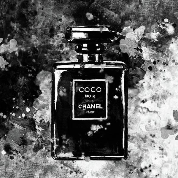 04124958d198 Chanel Print Poster featuring the painting Chanel Poster Chanel Print Black  And White Chanel Noir Perfume