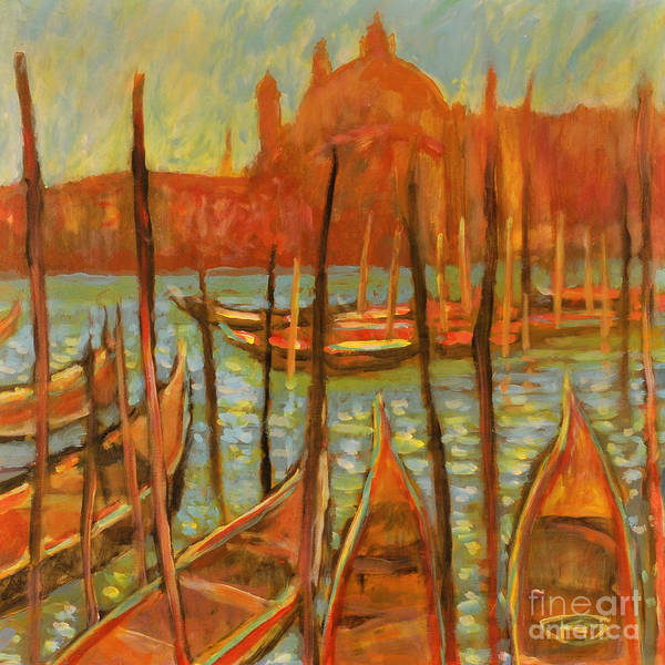 Venice Poster featuring the painting Choppy Water - Venice by Kip Decker