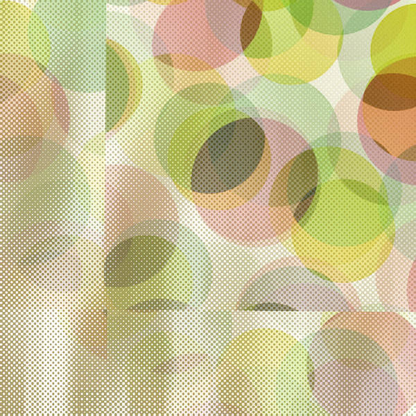 Abstract Poster featuring the digital art Circle Pattern Overlay by Ruth Palmer