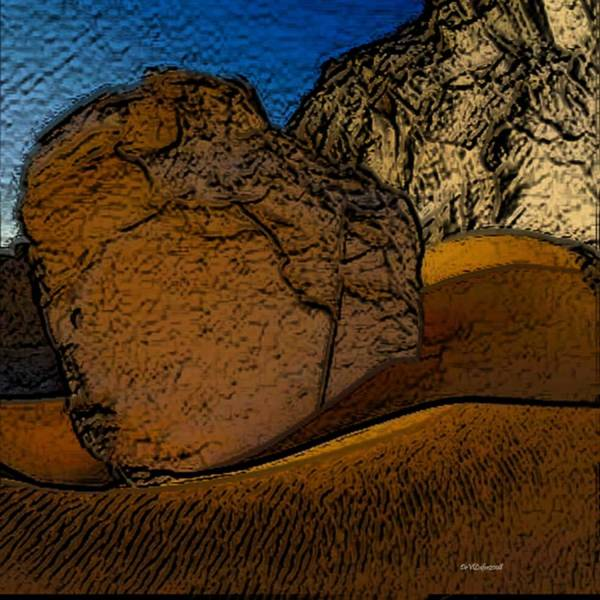 Sea Poster featuring the digital art Coast.dunes.rocks by Dr Loifer Vladimir