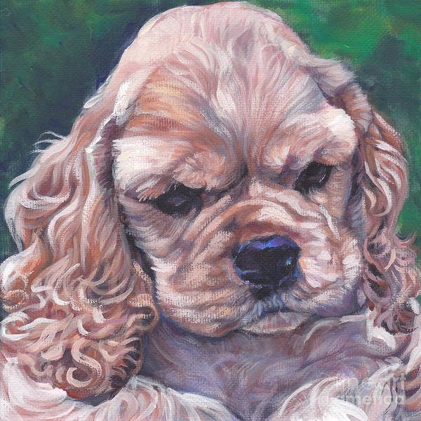 Cocker Spaniel Puppy Poster featuring the painting Cocker Spaniel Puppy by Lee Ann Shepard