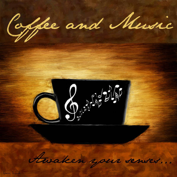 Coffee Poster featuring the digital art Coffee And Music by Lourry Legarde