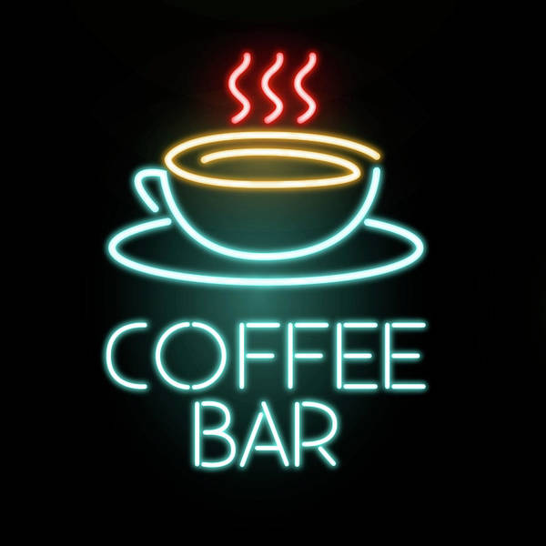 Coffee Bar Neon Poster by Gina Dsgn