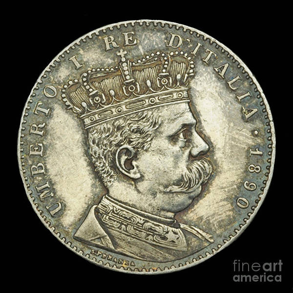 Currency Poster featuring the photograph Coin Italian King by Jost Houk
