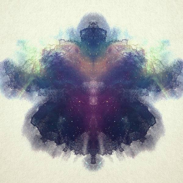 colorful spacey rorschach poster by brandi fitzgerald