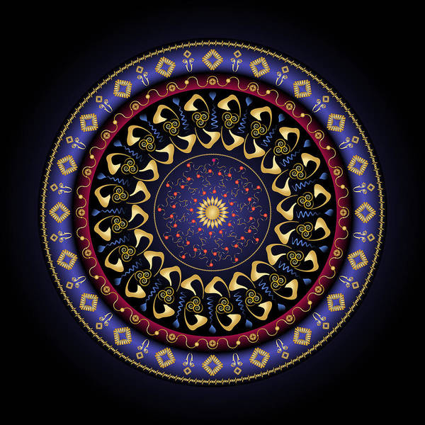 Mandala Poster featuring the digital art Complexical No 2160 by Alan Bennington