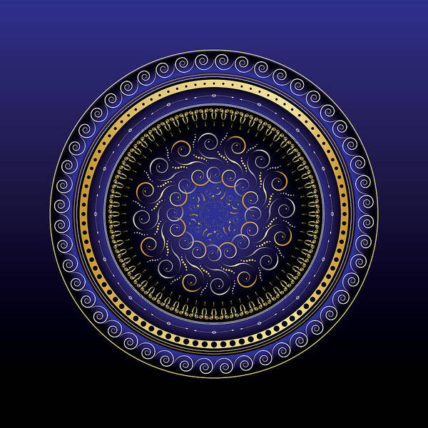 Mandala Poster featuring the digital art Complexical No 2164 by Alan Bennington