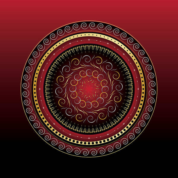 Mandala Poster featuring the digital art Complexical No 2165 by Alan Bennington