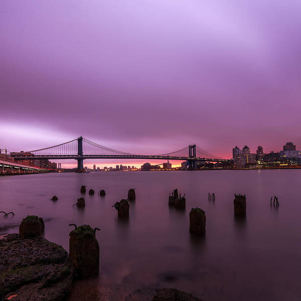 Landscape Prints Canvas Iphone Case Galaxy Case Cityscape Skyline Art Frame New York Art Buildings Sunset Sunrise Night Photography Photo Photography Love Beautiful Nyc Urban Anthonyfields Anthony Fields Sale Leaves Color Fall Clouds Relax Night Photography Skyline Poster featuring the photograph Cotton Candy by Anthony Fields