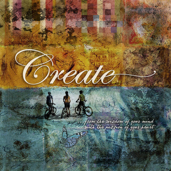 Create Poster featuring the digital art Create by Evie Cook