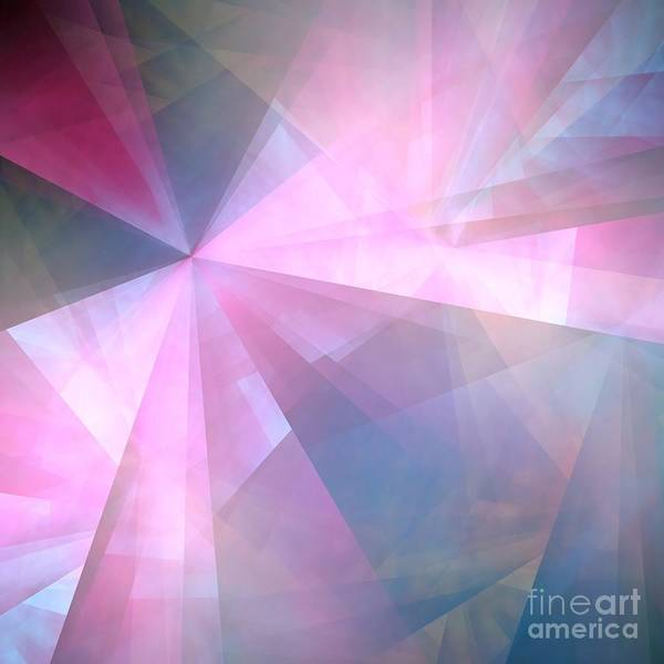 Abstract Poster featuring the digital art Cubist Background by Yali Shi