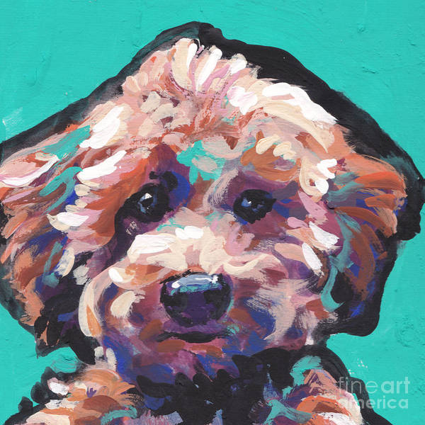Poodle Poster featuring the painting Cutey Poo by Lea S