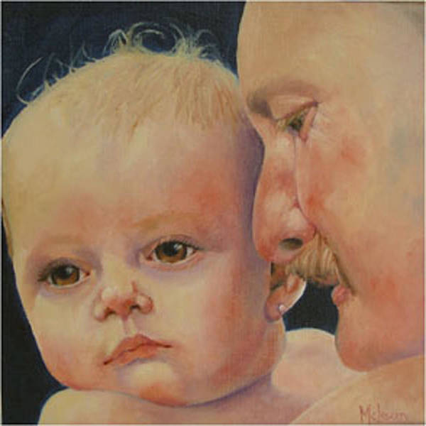 Children Poster featuring the painting Daddy's Girl by Fran Rittenhouse-McLean