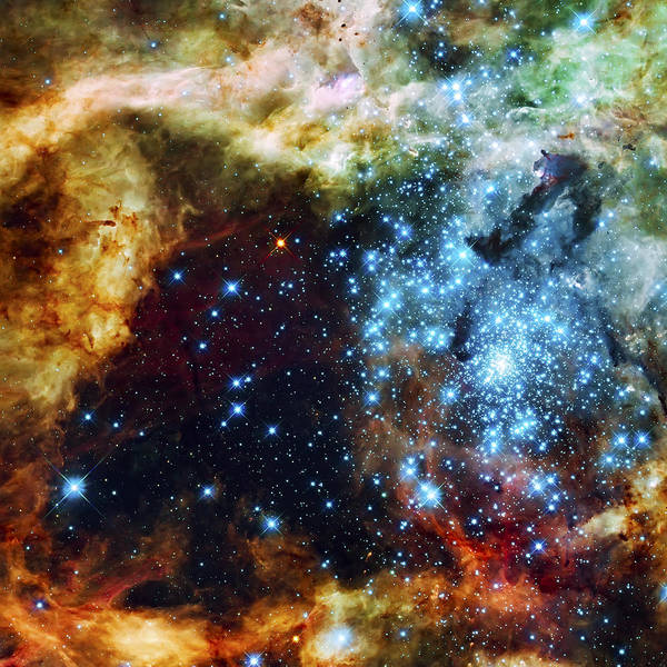 Nebula Poster featuring the photograph Deep Space Fire And Ice 2 by Jennifer Rondinelli Reilly - Fine Art Photography